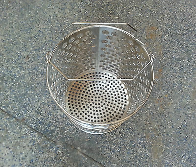 "open basket, 1"" hole, stainless steel, pressure fryer, 5004505"