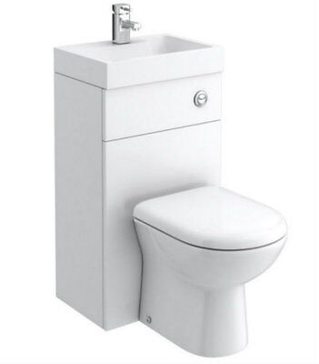Combination WC Hand Basin Unit BTW Back To Wall Toilet Pan Space Saving Unit