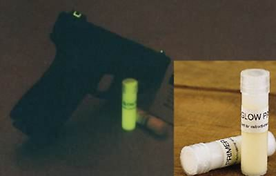 Glow-in-the-Dark Sight Paint Kit for rifle, pistol, bow