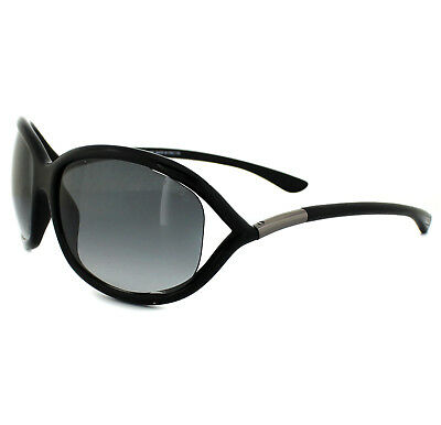 b61dd66a45 Tom Ford Sunglasses 0008 Jennifer 01B Shiny Black Smoke Grey Gradient