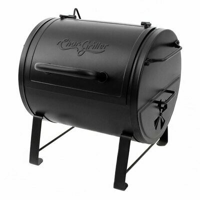 Portable Charcoal Grill Side Fire Box Outdoor Cast Iron Cooking Texas BBQ Smoker