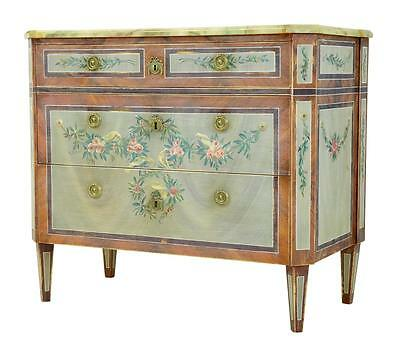 Rare 20Th Century Painted Gustavian Influenced Painted Chest Of Drawers