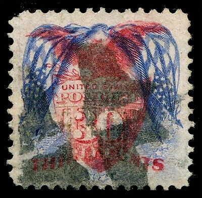 #121b 30¢ 1869 INVERTED FLAGS - ONLY 40 KNOWN - XF WITH PFC -EXT RARE WLM397 KEY