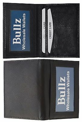 New Slim Thin Mens Bifold Genuine Leather Credit Card Holder wallet Black