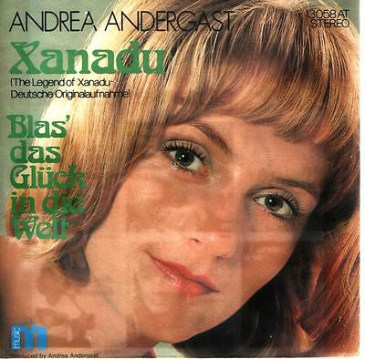 """7"""" Cover Andrea Andergast Xanadu (Deutsch) (Only Cover) M Records 70`s"""