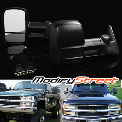 For 88-00 Chevy/gmc C/k 1500/2500/3500 Power Pickup Extendable Towing Mirrors