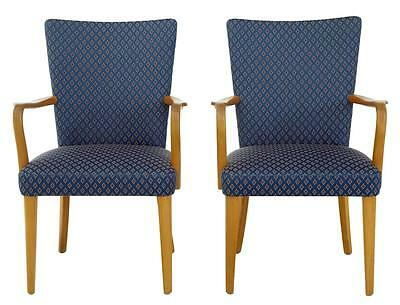 PAIR OF 1960's OAK ARMCHAIRS