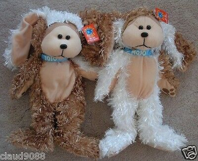 "Skansen Cuddly Kid ""jojo & Mojo The Jaffa Puppies Bears Mint With Mint Tags"