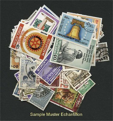 BANGLADESH, 100 DIFFERENT STAMPS - like received!