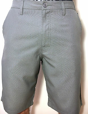 O'Neill Golf Shorts Grey Delta Style Striped RELAX FIT