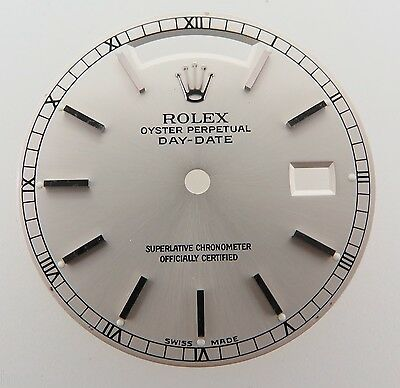 .Rolex Mens Silver Stick 18239 Day-Date - President Dial