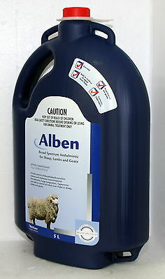 Alben Broad Spectrum Drench For Sheep, Lambs And Goats 5 Litre (Albendazole)