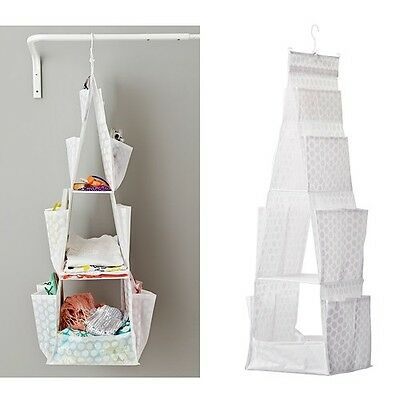 IKEA Hanging Storage w 3 Compartments Wardrobe Clothes Organiser White