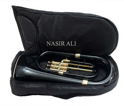 Beginner Euphonium Black Colored&yellow Brass Polish W/free Carryb+Mp+Shipng