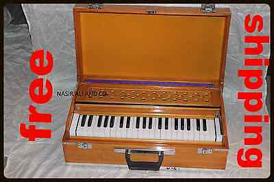 Harmonium Online~Teak Color Folding Box Harmonium ~3½ Octave~Bass/male~440P​iano