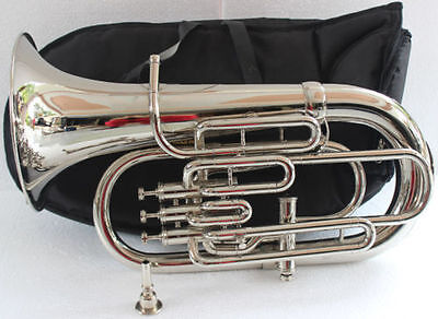 "Euphonium~Bb/f-4-Valve_Chrome-Wow-W""case-Mp-Superb-Sound-Tuba-"