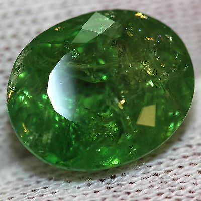 GIA certified natural Loose unmounted huge 12.74ct green untreated Garnet