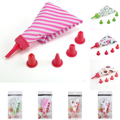 New Fashion Baking Accessories Cake Icing Piping Cream Pastry Bag Nozzle Kit Set