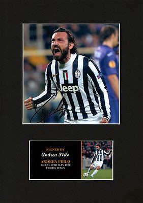 Andrea Pirlo Italy Quality signed Mounted Pre-Print 12 x 8.2 A4