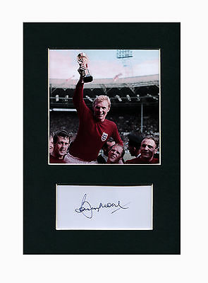 Bobby Moore World Cup 1966 Quality signed Mounted Pre-Print 12 x 8.2 A4
