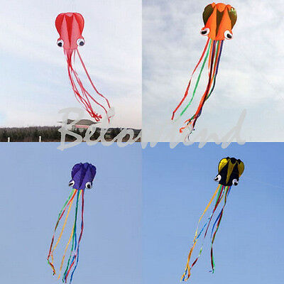 New Red Color Outdoor Sports 4M Octopus Soft Kite Beginner+30m Fly line Handle M