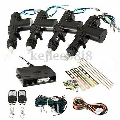 Car Central Door Locking Rotate Keyless Entry kit System 2/4 Remote Control Door