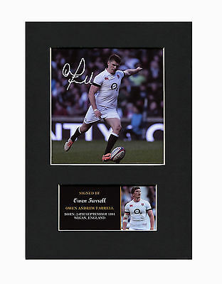 Owen Farrell Rugby League Quality signed Mounted Pre-Print 12 x 8.2 A4