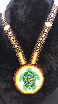 Native Beaded Medallion Necklace