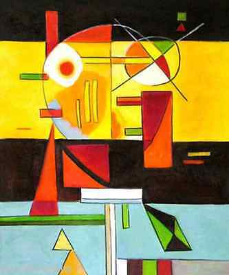 Contrasting sounds Kandinsky 14 x 18 inch mono deluxe Needlepoint Canvas