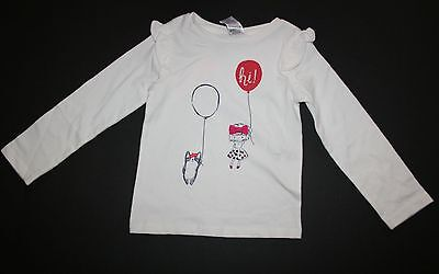 New Gymboree Ivory Balloons Girl Top Tee Shirt Size 4T NWT Ciao Puppy Line