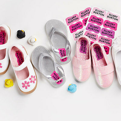 Personalized Scuff-proof Shoe Name Labels for Kids