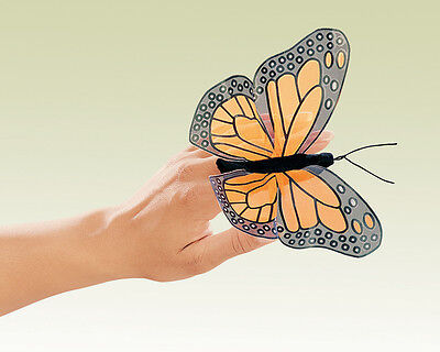 *NEW* PLUSH SOFT TOY Folkmanis 2156 Mini Monarch Butterfly Finger Puppet 15cm