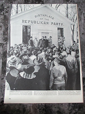 "Vintage 1944 Birthplace of the Republican Party Mag. Clipping, 14"" X 10.25"""