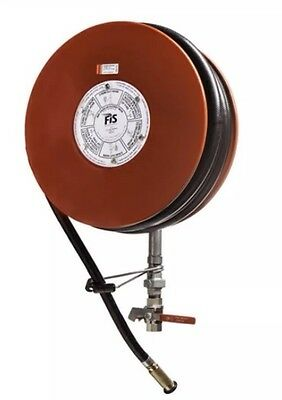 Fire Fighting Hose Reel 19mm x36M Black Hose. Brass Nozzle. Free Delivery .