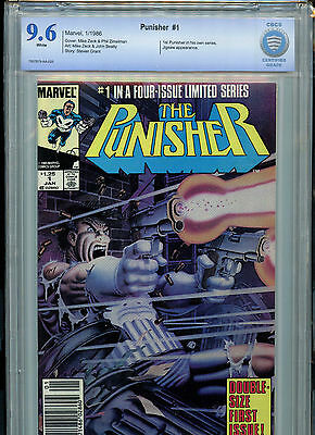The Punisher #1 Marvel Comics CBCS 9.6 NM+ 1986 #1 in 4 Part Series