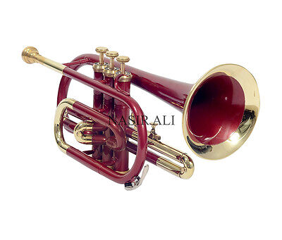 Red Hot Colour Cornet New Brass Wine Colored Pocket Cornet-Bb