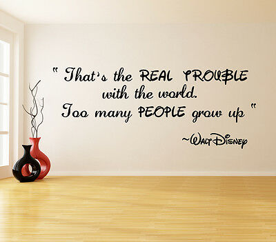 Walt Disney Famous Quote Sticker Wall Decal Vinyl Decor Room Famous