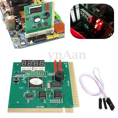 PC 4 Digit Diagnostic Analyzer Card Motherboard Tester Post Card Tool PC PCI ISA