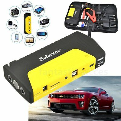 Portable Power Bank 12V 12000mAh Car Jump Starter Pack Booster Charger Battery