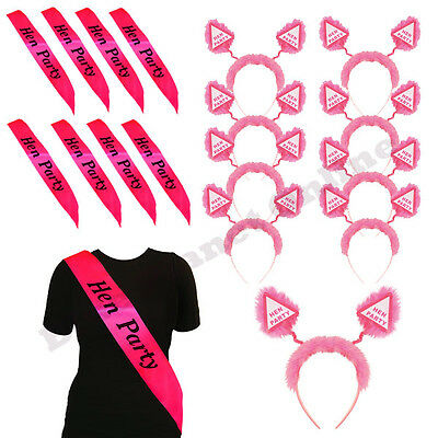 Bulk Buy Wholesale Lot Pink Hen Party Head Boppers Or Sash Girls Night Out