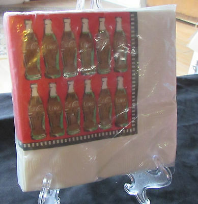 Vintage Coca-cola 30 Cocktail napkins drinks snacks NEW in package collectible