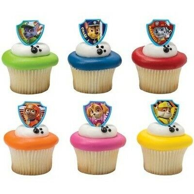 12 Pack Paw Patrol Cupcake Rings Topper Party Favors