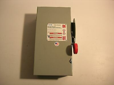 Eaton Cutler Hammer Fusible 60 Amp Disconnect Safety Switch 240 Volt Nema 1