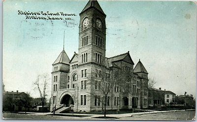 1910 Atchison, Kansas Postcard ATCHISON COUNTY COURT HOUSE Photoette #3785