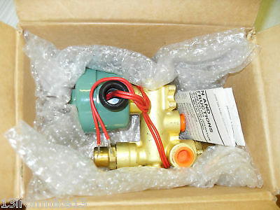 "*** NEW IN FACTORY BOX *** ASCO EF8300D64F 3-WAY SOLENOID VALVE 3/8""120Vac"