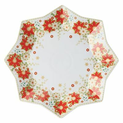 NEW Maxwell & Williams Christmas Poinsettia Platter, 32cm