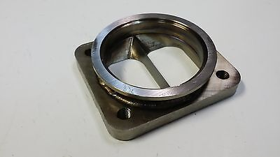 """Stainless T4 Divided to 3"""" V-band Inlet Turbo Flange Transition Vband 1/2"""" CNC"""