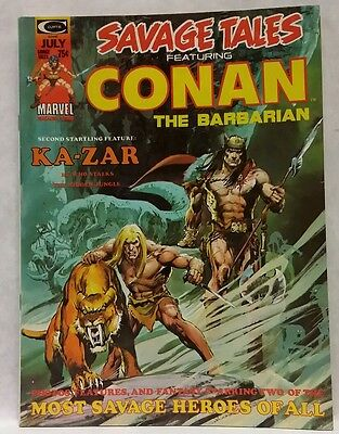 Savage Tales #5 Conan NM Neal Adams Cover Marvel 1974 Comic Magazine