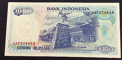 1992 1000  Rupiah UAF 079668  circulated condition