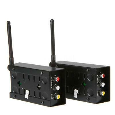 2.4GHz 4 Channels A/V Audio Video Sender Wireless Transmitter Receiver New Y5M9